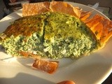 Mediterranean spinach souffle' in filo pastry