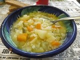 Rice and vegetables Italian soup and book review