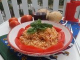 Risotto with fresh tomatoes and basil
