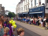 Waiting for the Olympic torch at Tunbridge Wells