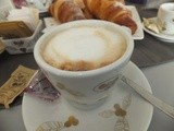 What's for breakfast? Brioche and cappuccino