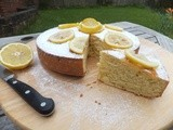 Yogurt and lemon cake....very lemony