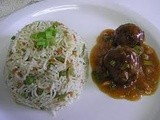 Chinese Manchurian Balls in hot garlic sauce