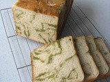 Eggless Green Tea Wassant Loaf
