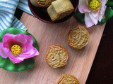 Pandan Mooncake Biscuit With Pandan Mung Bean Paste 班兰翡翠公仔饼