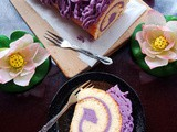 Purple Sweet Potato Mousse Swiss Roll 紫薯仔慕斯瑞士卷