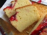 Sugee Pound Cake With Strawberry Sauce Topping