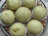 Wasabi Steamed Bun With Egg Yolk Custard