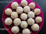 Coconut milk powder ladoo
