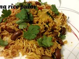 Rajma rice pulav/kidney beans rice