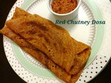 Red chutney dosa