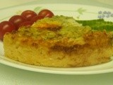 My Meatless Mondays - Broccoli Quiche with Hash Brown Crust