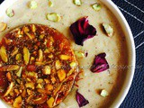 Chironji Makhane Kheer With Mixed Nuts Chikki / Chiraunji Fox Nuts Milk Pudding With Nutty Caramel Discs ~ Celebrating Lohri