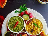 Diwali Mini Vegetarian Thali ~ Wish You All a Dazzling And Prosperous Diwali