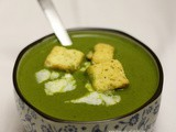 Indian cream of spinach soup