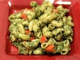 Mint Almond Pesto Pasta Salad