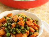 Sweet Potato and peas vegetable fry
