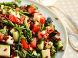 Wild Rice and Arugula Salad with Lemon dressing