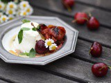 Cottage(Quark) cheese with honey roasted tomatoes