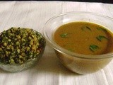 Bas Saaru and Palya / Gravy from Green Leaves