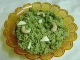 Green Peas and Paneer Pulav