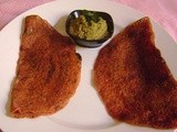 Mixed Vegetable Dosa - a Pink Dosa