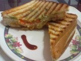How to Make Vege Paneer Salsa Sandwich