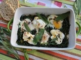 Baked Eggs with Rucola,Yoghurt and Chili-Sage butter – Turkish Breakfast