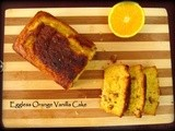 Eggless Orange Vanilla Cake
