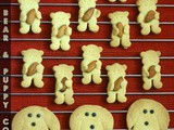 Huggy Bear Cookies and Puppy-face Cookies | Shortbread Cookies [Egg-less]