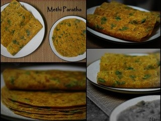 Methi Paratha | Fenugreek Leaves Indian Bread