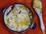 Pumpkin & Corn Tawa Pulav with Coconut Milk