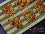 Wholewheat thin-crust cheese-less Pizza squares