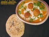 Malai kofta / Fried cottage cheese in a creamy gravy / step by step pics