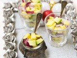 The perfect appetizer for your ny's eve party, mango salsa