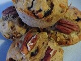 Banana Muffins with Pecans and Dates