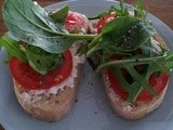 Cottage cheese, tomato & rocket on sour-dough