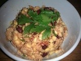 Cous Cous, bean and corn salad