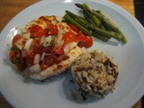 Grilled Chicken with Mint and Tomato Salsa