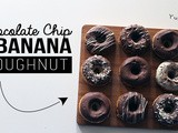 Chocolate Chip & Banana Doughnuts