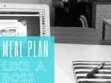 Linky: Meal Plan Like a Boss (free printable)