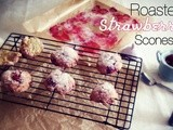 Roasted Strawberry Scones
