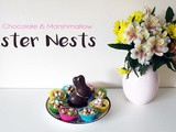 White Chocolate & Marshmallow Easter Nests - Baking with a Toddler