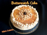 Butterscotch Cake With Buttercream Frosting