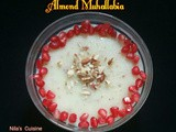 Muhallabia Dessert / Almond Cream Pudding / Almond Muhallabia / Middle Eastern Pudding