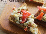 Peppers And Egg Sandwich Recipe - Healthy Breakfast Recipes