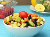 Black Bean Salsa Salad | Mixed Vegetable Sprout Salad