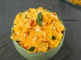 Cornflakes Mixture | Maize Poha Mixture with step by step Pictures