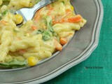 Creamy Veg Pasta with Homemade White Sauce Recipe