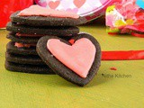 Egg Free Valentines Chocolate Sugar Cookies with Royal Icing | Heart Shaped Sugar Cookies | Valentines Special Recipe